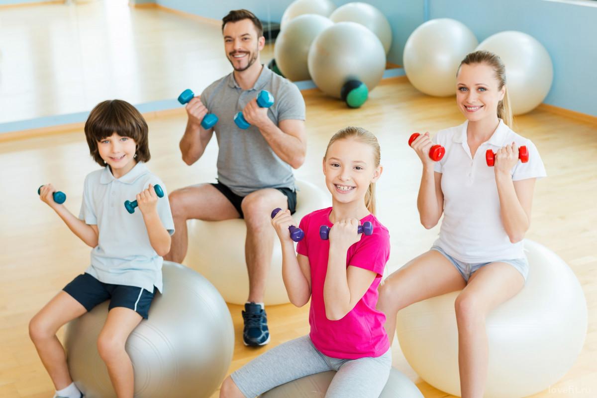 Картинки дети и взрослые занимаются спортом
